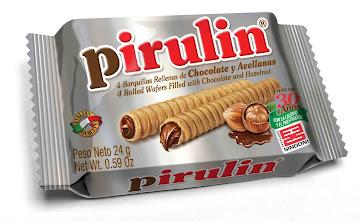 Barquillos Pirulin   Rellenos De Chocolate Y Avellana X 24 G.
