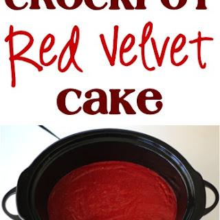 Crockpot Red Velvet Cake!