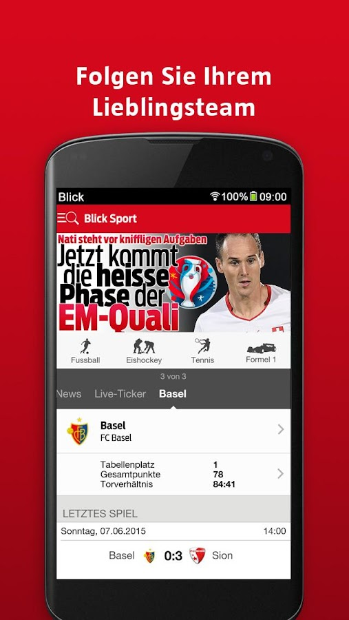 Blick Sport- screenshot