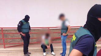 Momento de la detención del presunto líder criminal.