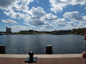 Photo: Inner harbour of Baltimore.