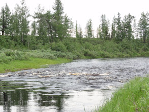 Photo: Перекат на Луппайеган, где она течет между 2 озерами.