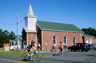 Photo: Mount Tabor Baptist Church was the first rest stop for most riders