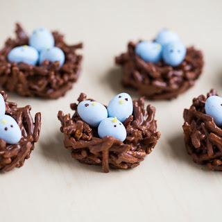 Cadbury Egg Chocolate Nests