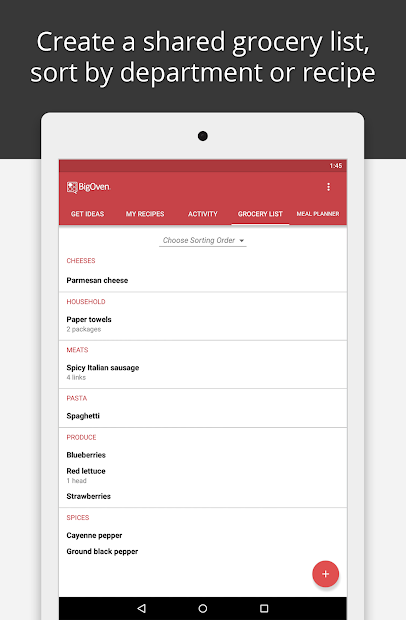 BigOven Recipes, Meal Planner, Grocery List & More screenshot 12