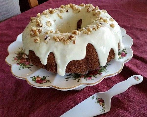 Spelt Carrot Pineapple Coconut Walnut Cake Recipe