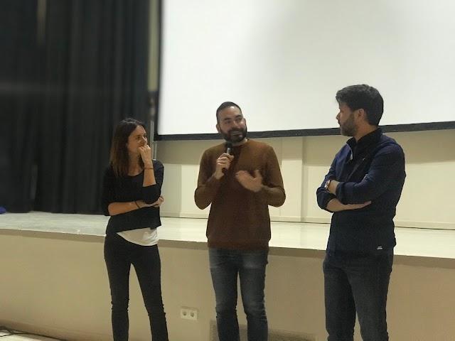 La actriz Eva Santolaria y el director Santiago Requejo, con David Martos (en el centro), uno de los directores de Fical.