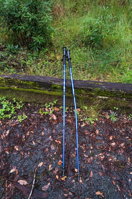 Bent hiking poles