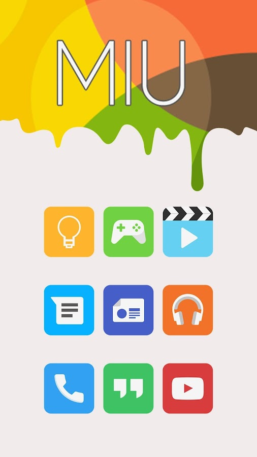 Miu - MIUI 8 Style Icon Pack- screenshot