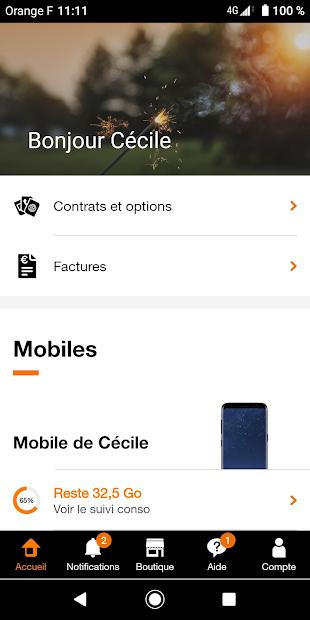 Orange et moi France Android App Screenshot