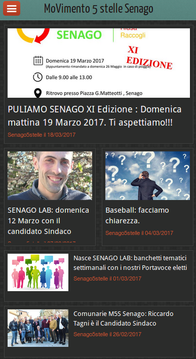 M5S Senago- screenshot