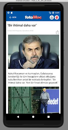 FOTOMAÇ–Son dakika spor haberleri, maç sonuçları 5.4.7 screenshots 2