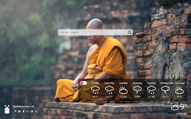 Buddhism New Tab, Wallpapers HD