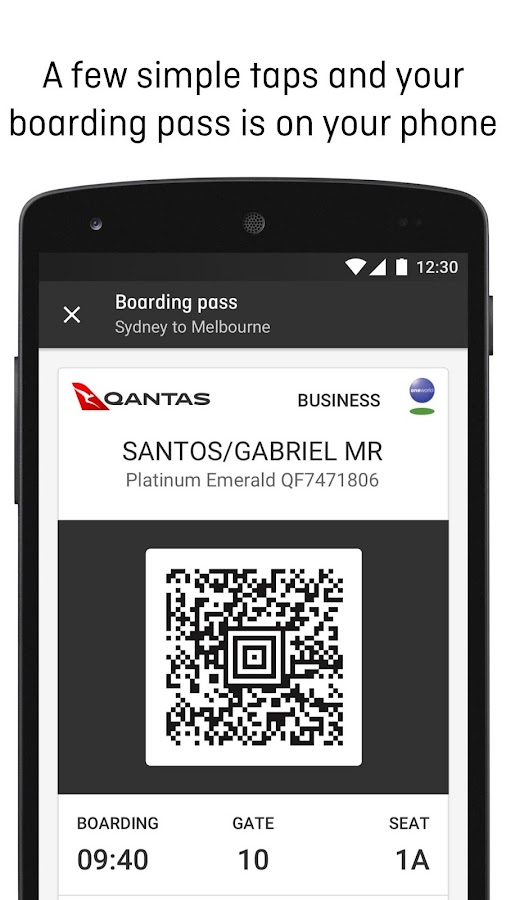 Qantas Airways- screenshot