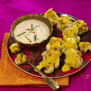 Masala-Baked Cauliflower and Raita.