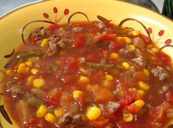 Vegetable Beef Soup (spicy--optional) Recipe