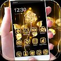Gold Rose theme luxury gold icon