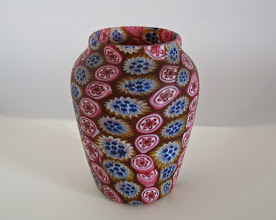 Photo: Fratelli Toso mosaic vase with two rows of murrhines.