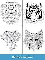 Coloring pages:Animals Mandala - screenshot thumbnail 12