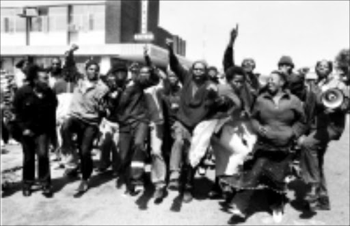 NO CHARGES: Some of the residents of Orange Farm after being released yesterday. Pic. Len Kumalo. 16/09/2008. © Sowetan