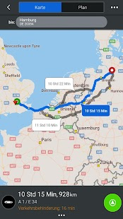 CoPilot Europa GPS Navigation – Miniaturansicht des Screenshots