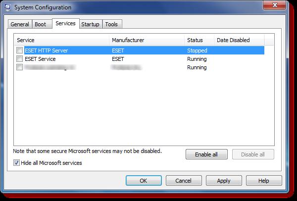 Thực hiện Clean Boot với windows 7/8/10 để kiểm tra lỗi