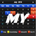 Calendar 2016 Malaysia +PH +SH icon