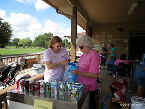 Photo: Marge Leventon and Letha Grace McCoy stocking up the refrigerator.   HALS Public Run Day 2014-0920 RPW