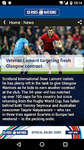 RBS 6 Nations Championship App- screenshot thumbnail