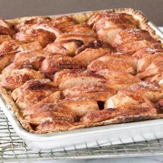 Open-faced Apple Sheet-pan Pie.