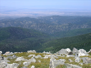 Photo: Looking west over the high desert fro Santa Fe Baldy