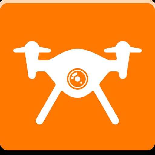 Orange Drone Icon
