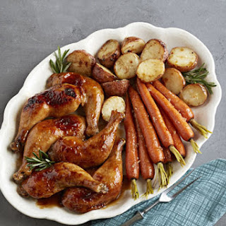 Maple-Mustard Roast Chicken Dinner