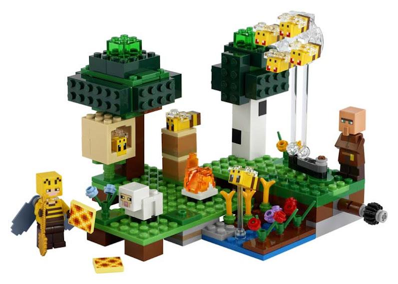 Contenido de Lego® 21165 La Granja de Abejas