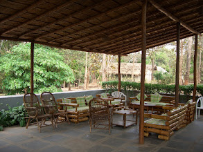 Photo: The public sitting out area at Kali Camp at Dandeli 2006