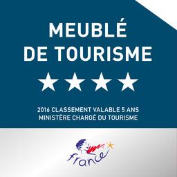 logo meuble de tourisme 4 étoiles 2016 le chai au clos de la garenne