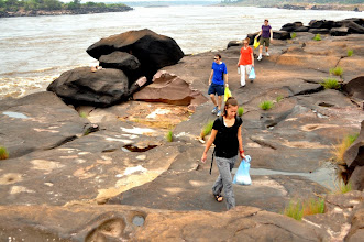 Photo: Hiking in the villages and communities of the Congo and along the Congo River.