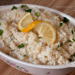 Lemon Rice in the Pressure Cooker