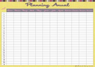 Photo: Planning anual avión