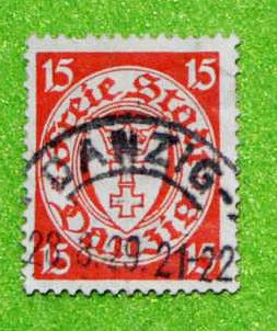 Briefmarke - Freie Stadt Danzig - 28.8.1929