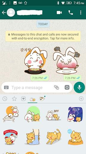 Screenshot for Onigiri Bunny and Cat Sticker in Hong Kong Play Store