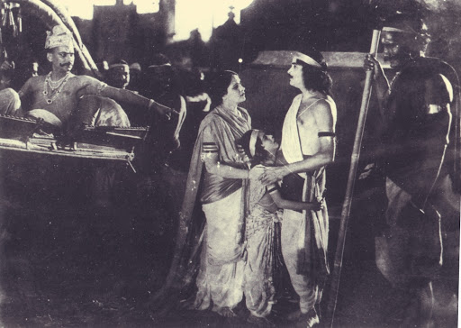 Film Still of the first Marathi talkie film in India Ayodhyecha Raja (The King of Ayodhya) 1932