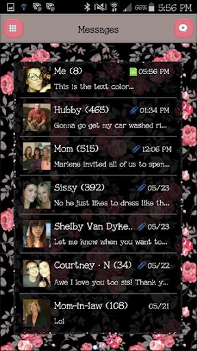GO SMS - FlowerLove10