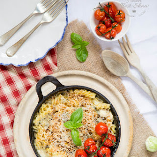 Turkey, Sprout and Stilton Pasta Bake Recipe