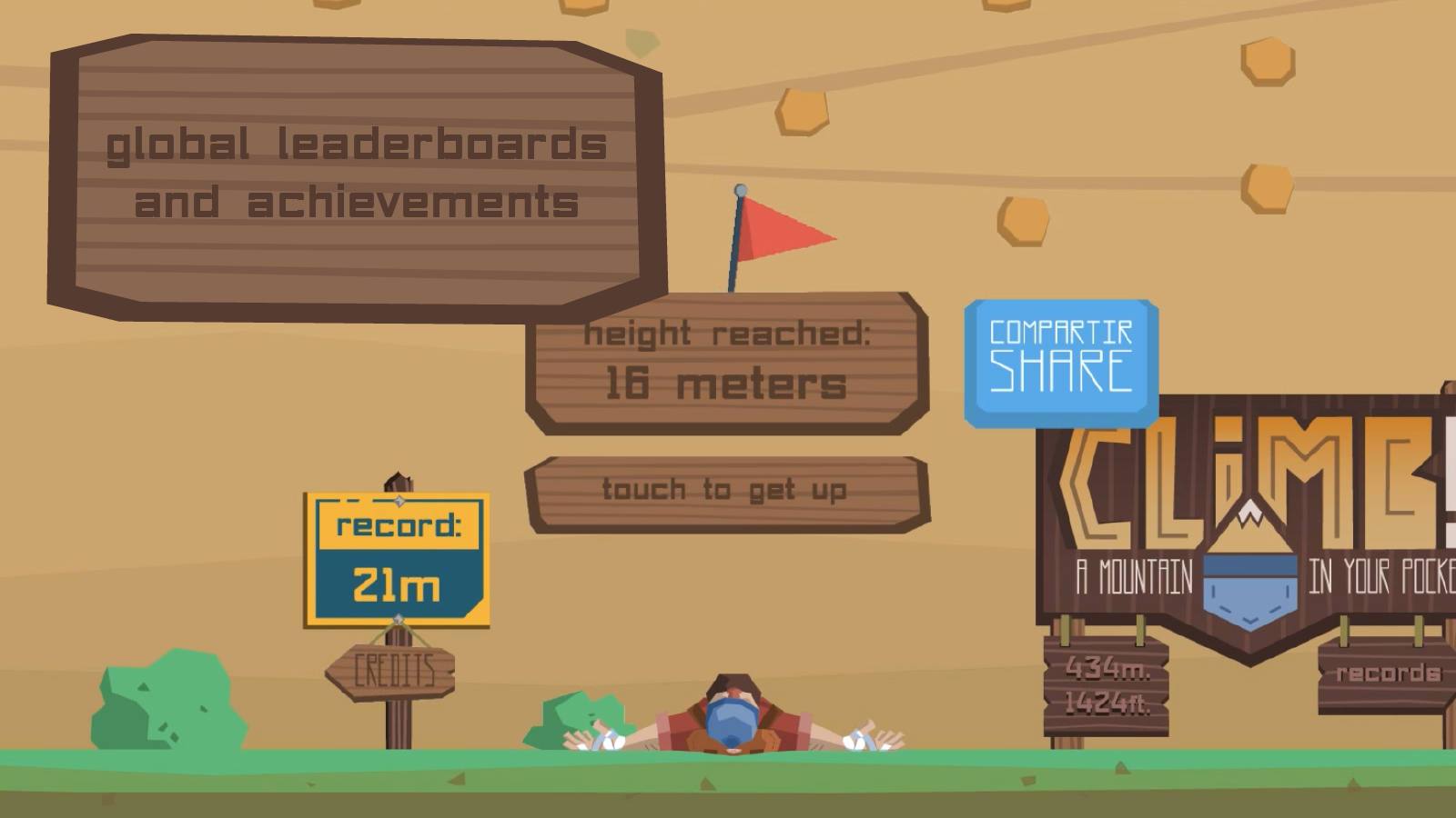 Screenshots of Climb! A Mountain in Your Pocket - Free for iPhone