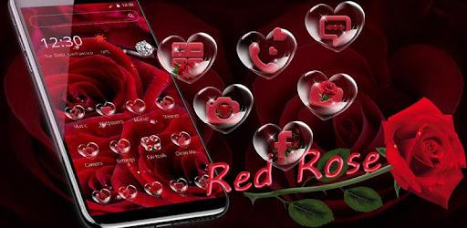 وردة حمراء خاتم الماس موضوع التطبيقات على Google Play