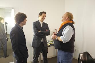 Photo: POY panelists Jesse Eisenberg, Seth Meyers and Mario Batali. Photo by: Jemal Countess/Getty
