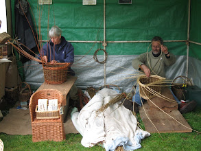 Photo: Basket weavers at Gressenhall Museum of Rural Life.