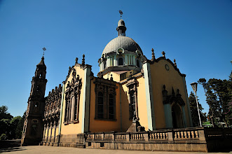 Photo: Addis Ababa - Holy Trinity Cathedral - final resting place of Haile Selassie