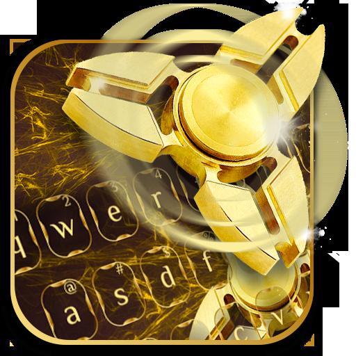 Fidget Spinner Golden Luxury Keyboard Theme